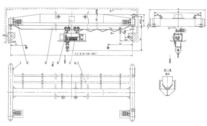 LDA电动单梁起重机 10T单梁起重机  LDA 电动单梁起重机 10T 单梁起重机 第2张