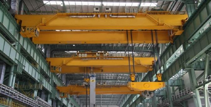 成都起重机厂家75/20/5T变频调速桥式起重机