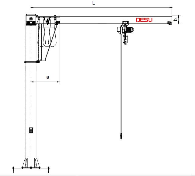 臂式起重机DJB-P型立柱式悬臂吊  臂式起重机 DJB-P型 立柱式悬臂吊 第2张
