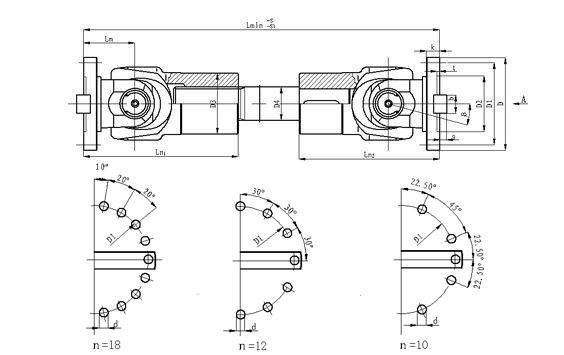 乐清联轴器SWC-BY型花叉套、压配轴伸缩式万向联轴器  乐清联轴器 SWC-BY型 花叉套 压配轴 伸缩式万向联轴器 第1张