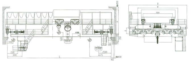 电动双梁桥式起重机QD型200/50吨  电动双梁桥式起重机 QD型 200/50吨 第2张