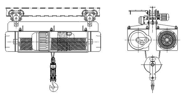 地铁专用电动葫芦双胞胎电葫芦  地铁专用电动葫芦 双胞胎电葫芦 电动葫芦 第3张