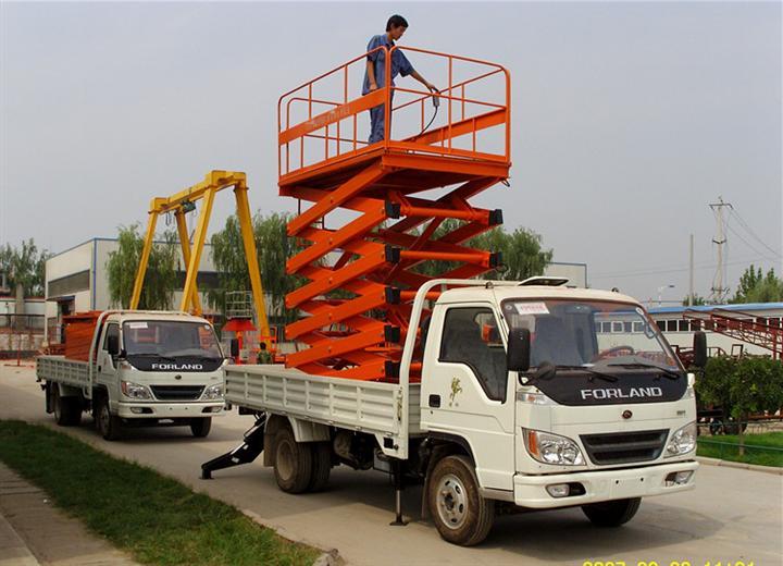 液压升降机电动高空作业升降平台车载式升降台厂家定制山东升降机