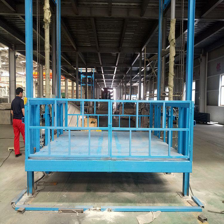 2吨载货电梯价格 厂房固定液压式货梯 电动卷帘门升降机甘肃升降机