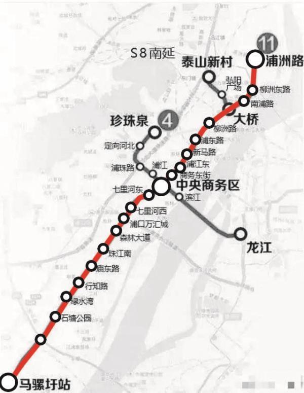 南京地铁11号线路图一期2018年底开工