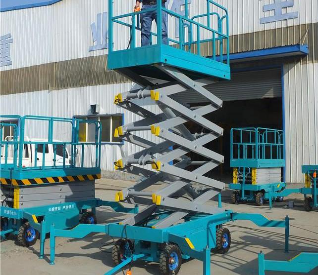 柴电两用升降机辅助行走式升降货梯剪叉式升降机成都升降机交直流两用升降平台SJY0.5-8