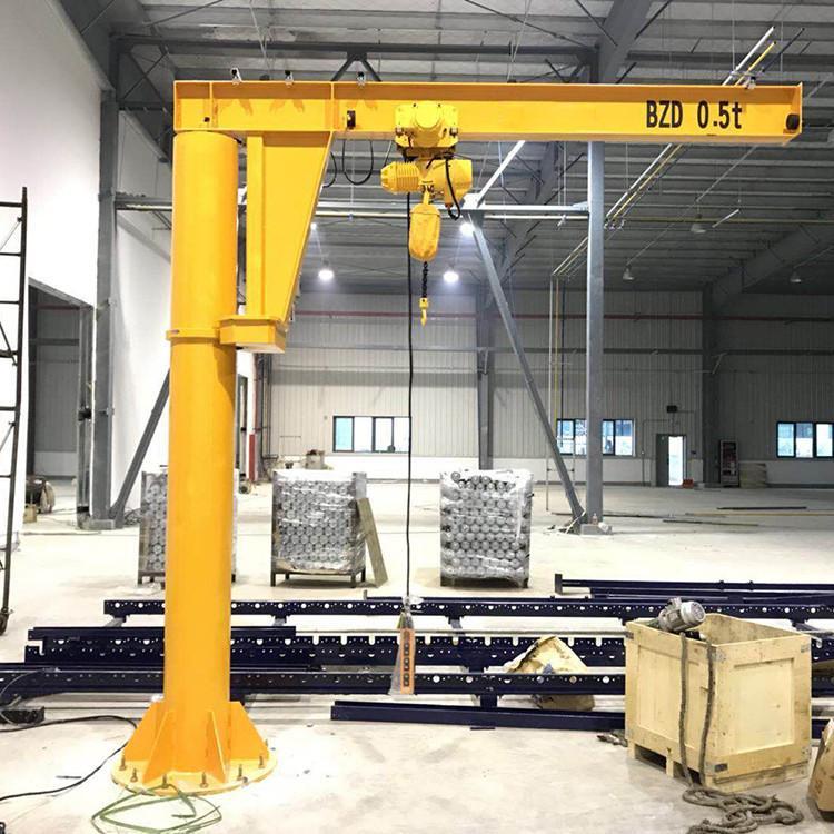 固定式悬臂吊 重型旋臂起重机 1T墙壁式旋臂吊价格立柱式360度旋转独臂吊
