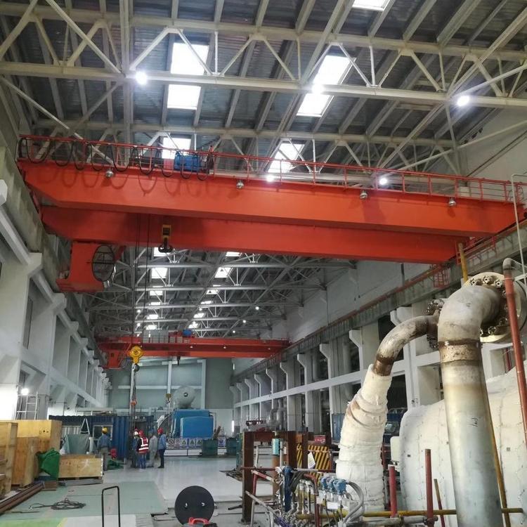 双梁起重机20/5吨QD吊钩桥式起重机双梁行车电动双梁桥式起重机LH5-32T电动葫芦双梁
