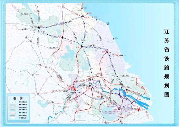 江苏高铁规划图