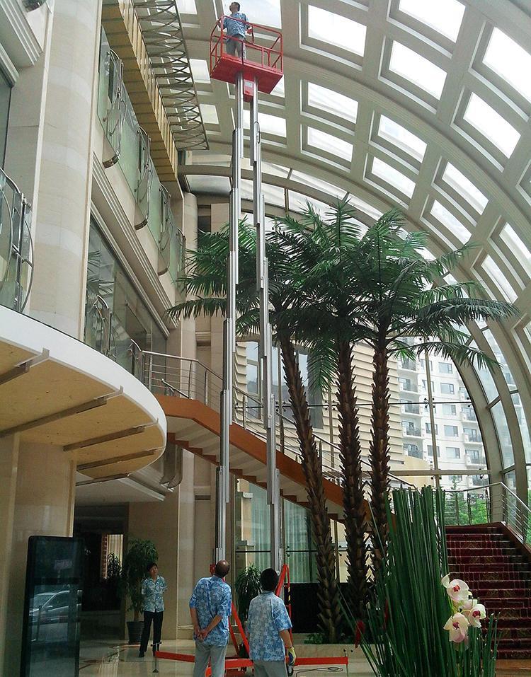 铝合金升降台厂家批发SJL单柱双柱三柱四柱升高6米8米10米18电动铝合金升降机升降平台