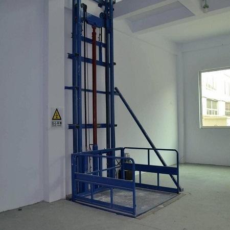 导轨升降机小型升降梯固定液压式升降货梯单双轨厂房装卸货平台多层简易别墅无障碍电梯