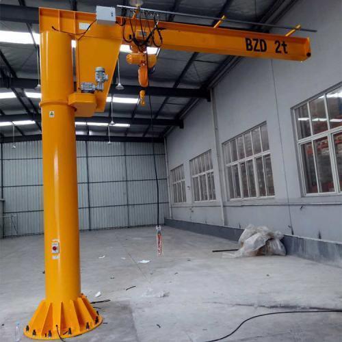 0.5吨电动悬臂吊1t电动单臂吊2吨定柱式旋臂起重机5吨bzd旋臂起重机小型旋臂行车