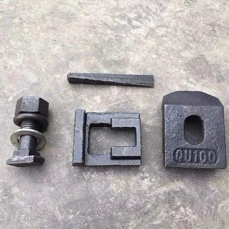 轨道焊接压轨器WJK/TG/QU夹板压板压轨器固定器起重机龙门吊行车起重配件