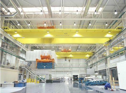 电站用起重机通用桥式20+20电磁起重机QDY5-74吨吊钩桥式铸造起重机中国起重机网