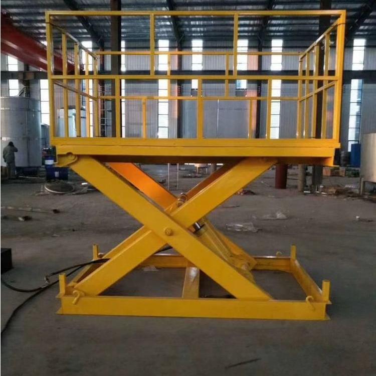 汽车举升机双桅柱豪华平台3吨固定式升降平台2吨链条式载货货梯固定式升降台