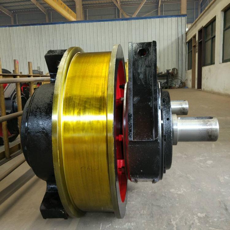 起重机车轮组厂家直销 锻钢车轮组单双梁300 800双边行车轮组